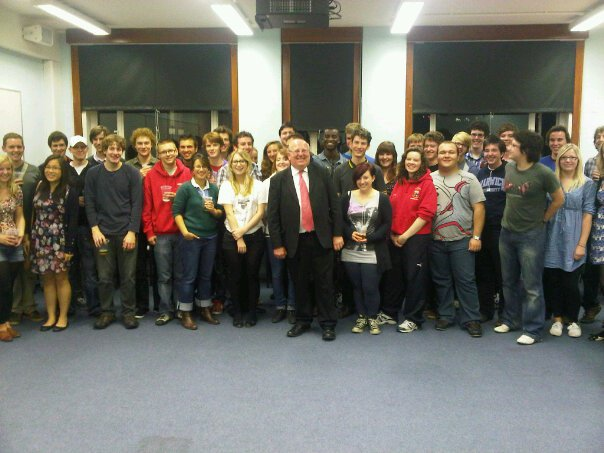 Warwick Labour Fresher's Reception 2010 with Mike Gapes MP
