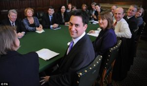 Ed Miliband's cabinet in 2010