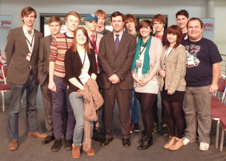 Warwick Labour with Andy Burnham, March 2012