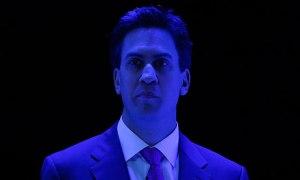 Ed Miliband on stage