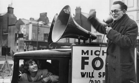 Michael Foot campaigning
