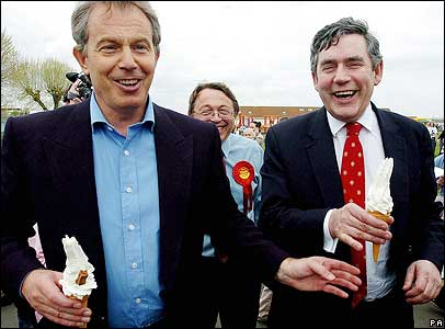 Tony and Gordon on the campaign trail