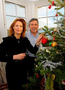 Gordon and Sarah Brown at Christmas