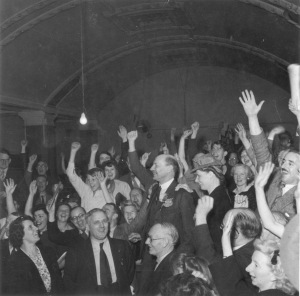 The Spirit of 45 Dogwoof Clem Attlee_Labour Party Victory Night 1945 copyright People's History Museum