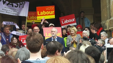 Jeremy Corbyn in Leamington Spa